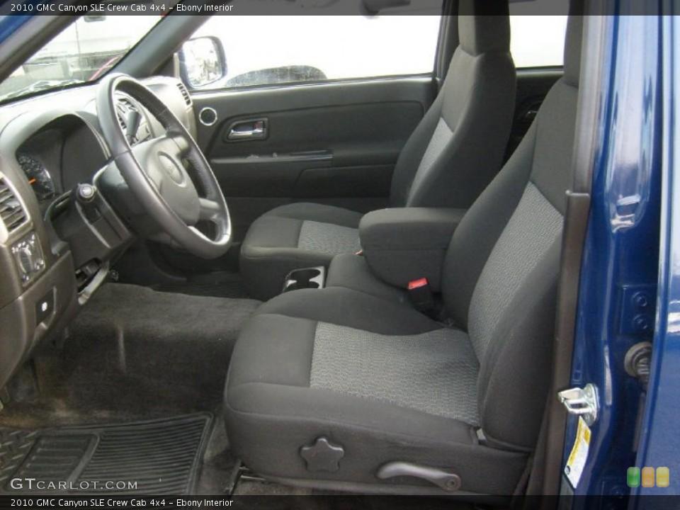 Ebony Interior Photo for the 2010 GMC Canyon SLE Crew Cab 4x4 #46481709