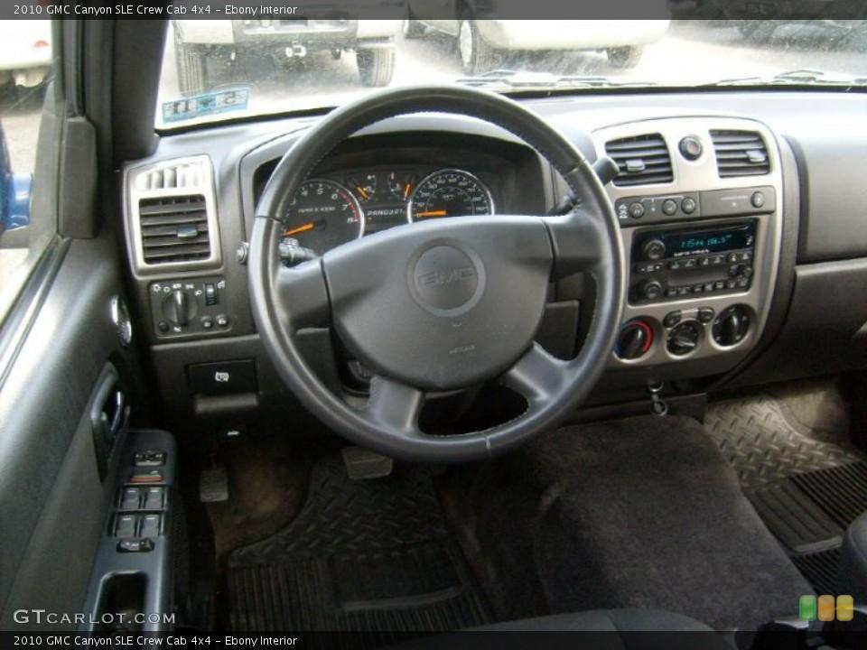 Ebony Interior Dashboard for the 2010 GMC Canyon SLE Crew Cab 4x4 #46481769