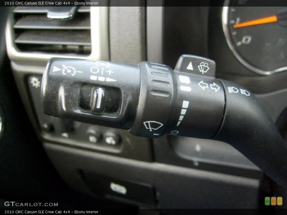 Ebony Interior Controls for the 2010 GMC Canyon SLE Crew Cab 4x4 #46481844