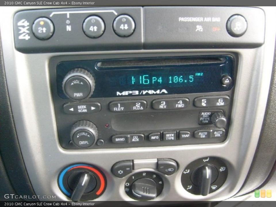 Ebony Interior Controls for the 2010 GMC Canyon SLE Crew Cab 4x4 #46481859