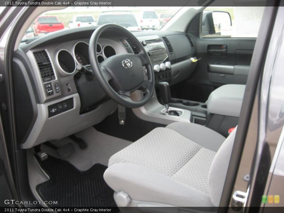 Graphite Gray Interior Photo for the 2011 Toyota Tundra Double Cab 4x4 #46492731