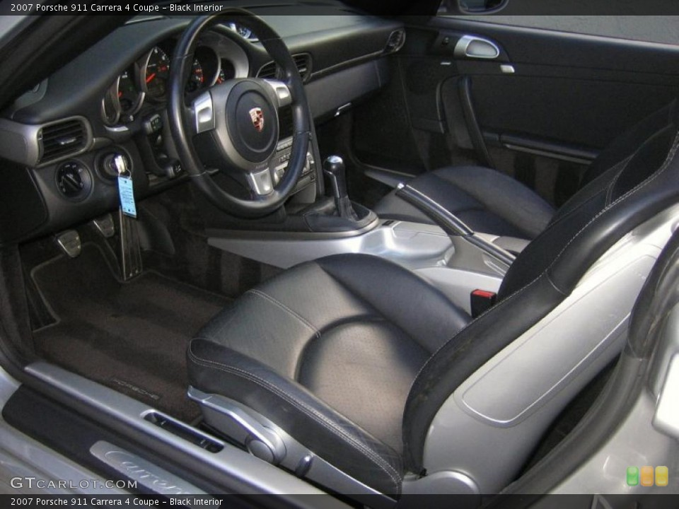 Black Interior Photo for the 2007 Porsche 911 Carrera 4 Coupe #46498041