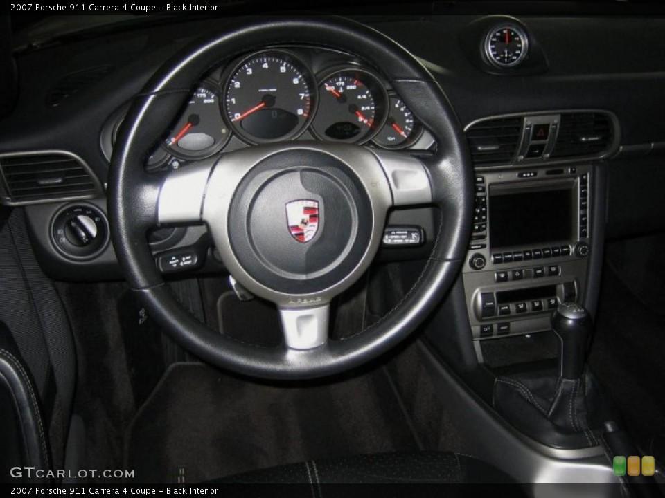 Black Interior Dashboard for the 2007 Porsche 911 Carrera 4 Coupe #46498077