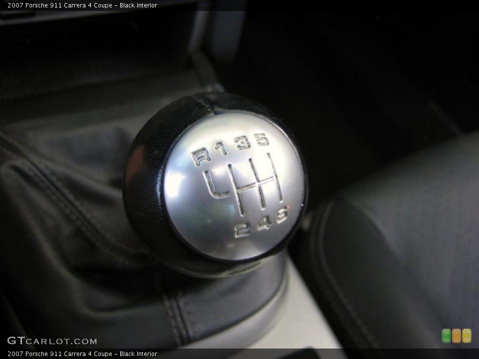 Black Interior Transmission for the 2007 Porsche 911 Carrera 4 Coupe #46498155