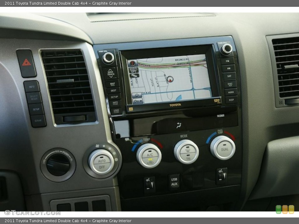 Graphite Gray Interior Navigation for the 2011 Toyota Tundra Limited Double Cab 4x4 #46571350