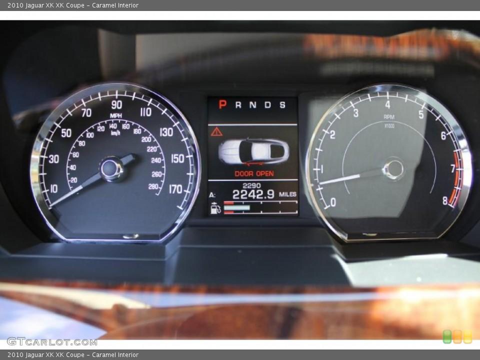 Caramel Interior Gauges for the 2010 Jaguar XK XK Coupe #46614859