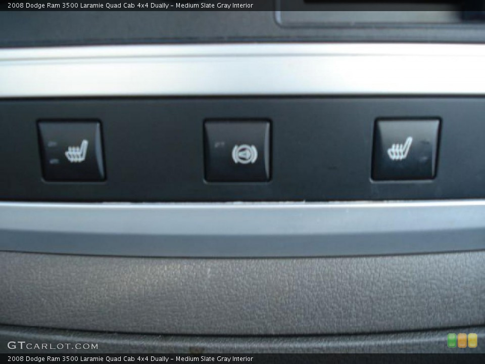 Medium Slate Gray Interior Controls for the 2008 Dodge Ram 3500 Laramie Quad Cab 4x4 Dually #46682075