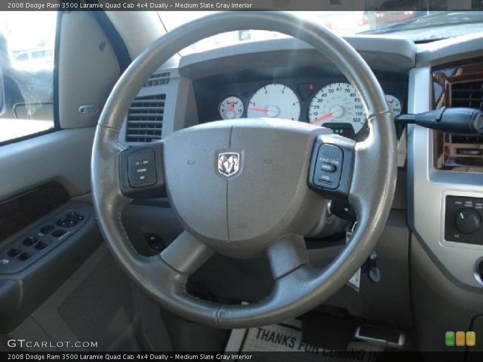 Medium Slate Gray Interior Dashboard for the 2008 Dodge Ram 3500 Laramie Quad Cab 4x4 Dually #46682099