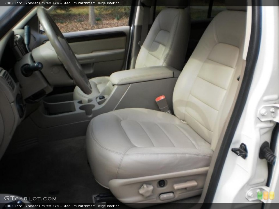 Medium Parchment Beige Interior Photo for the 2003 Ford Explorer Limited 4x4 #46693469