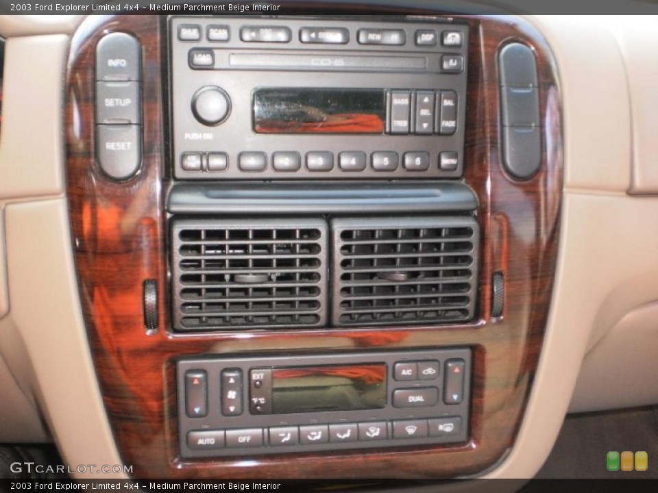 Medium Parchment Beige Interior Controls for the 2003 Ford Explorer Limited 4x4 #46693544