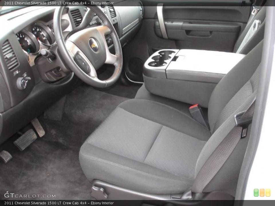 Ebony Interior Photo for the 2011 Chevrolet Silverado 1500 LT Crew Cab 4x4 #46717892