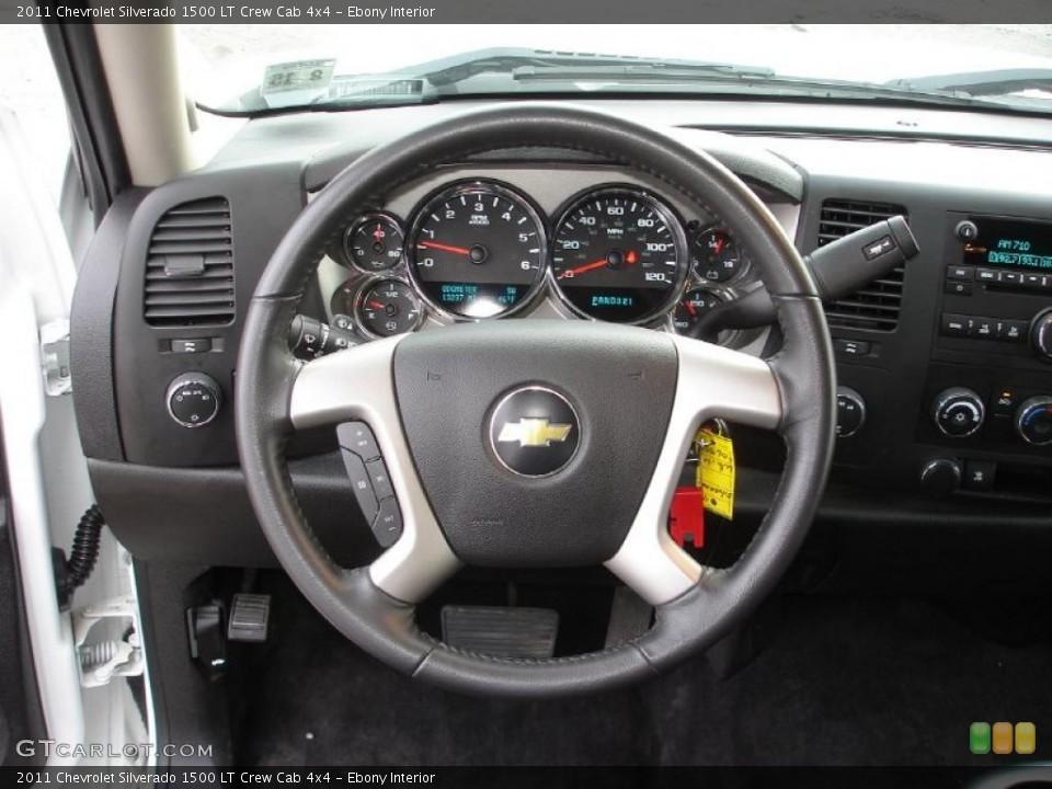 Ebony Interior Steering Wheel for the 2011 Chevrolet Silverado 1500 LT Crew Cab 4x4 #46717932