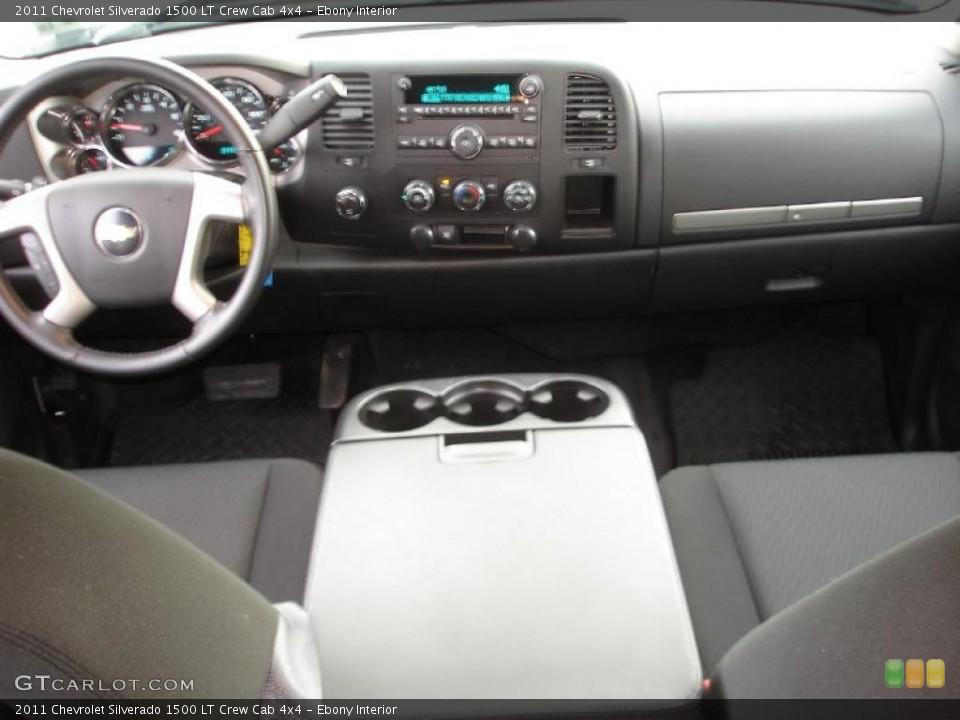 Ebony Interior Dashboard for the 2011 Chevrolet Silverado 1500 LT Crew Cab 4x4 #46718160