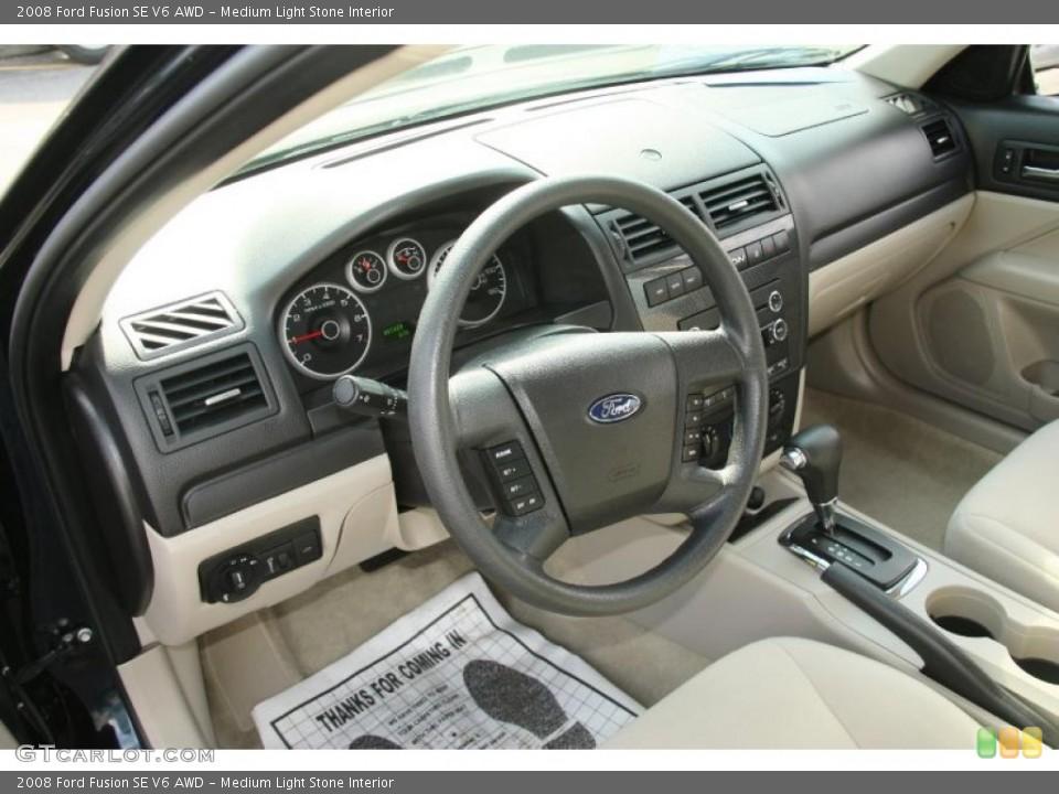 Medium Light Stone 2008 Ford Fusion Interiors