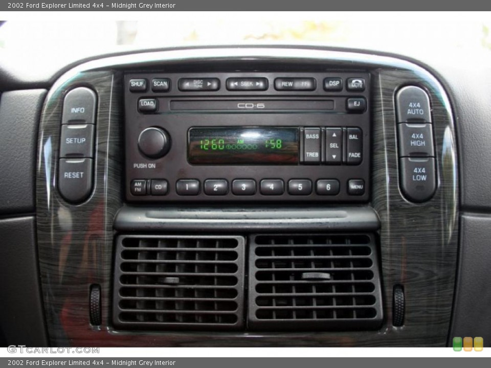 Midnight Grey Interior Controls for the 2002 Ford Explorer Limited 4x4 #46734726