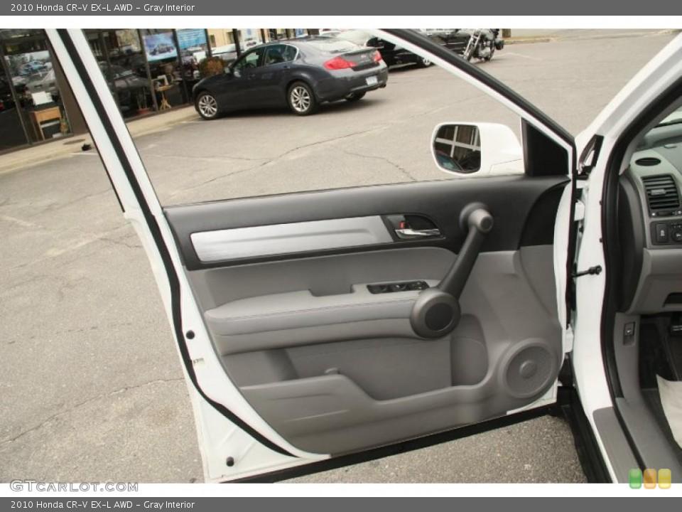 Gray Interior Door Panel for the 2010 Honda CR-V EX-L AWD #46852218