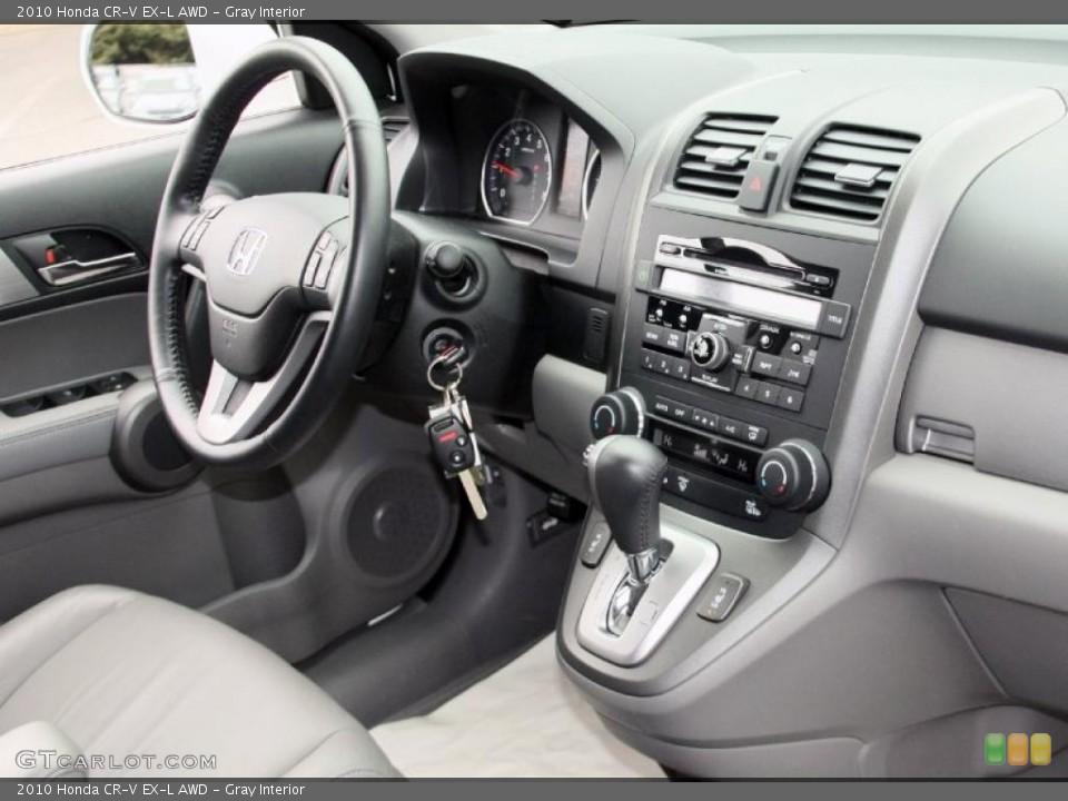 Gray Interior Dashboard for the 2010 Honda CR-V EX-L AWD #46852311