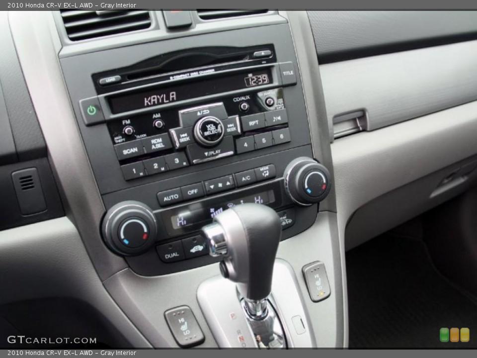 Gray Interior Controls for the 2010 Honda CR-V EX-L AWD #46852386