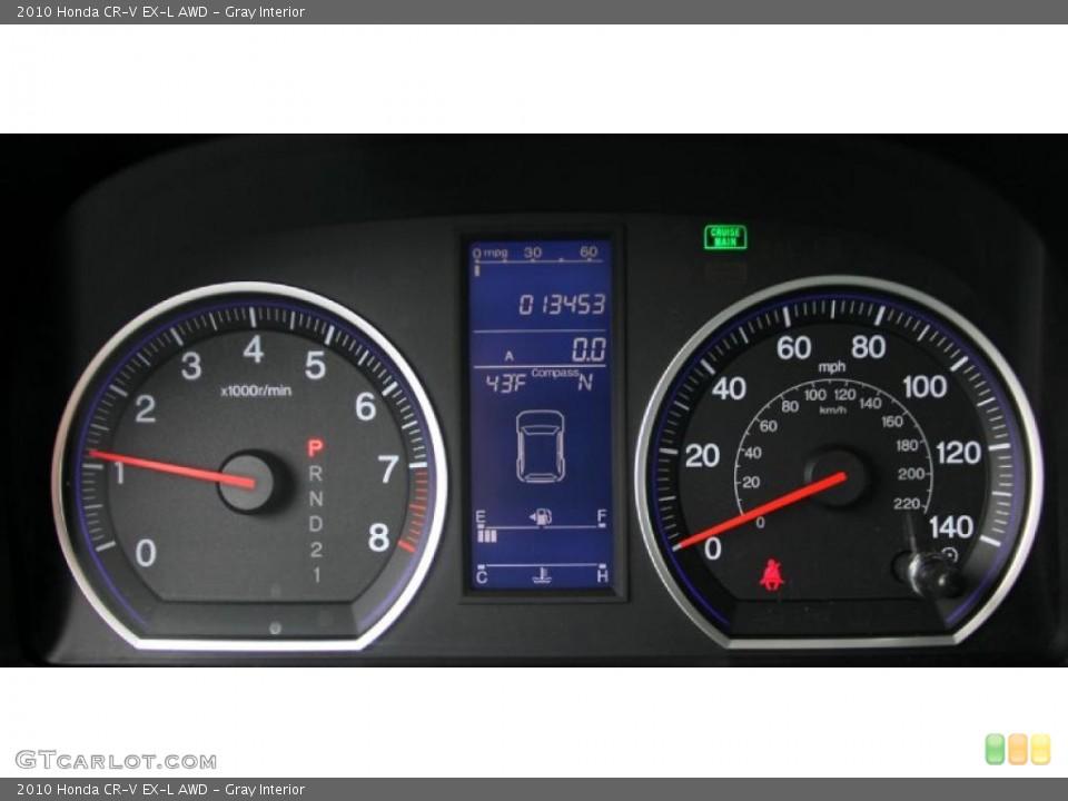 Gray Interior Gauges for the 2010 Honda CR-V EX-L AWD #46852395