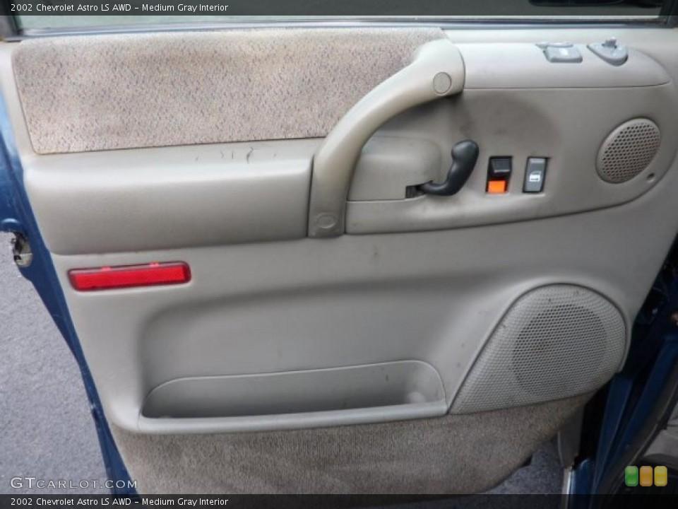 Medium Gray Interior Door Panel for the 2002 Chevrolet Astro LS AWD #46853040