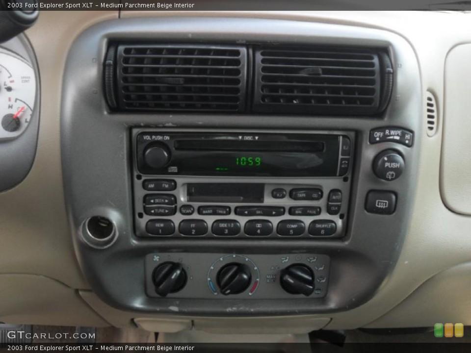 Medium Parchment Beige Interior Controls for the 2003 Ford Explorer Sport XLT #46971813