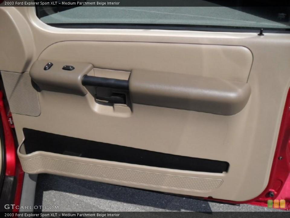 Medium Parchment Beige Interior Door Panel for the 2003 Ford Explorer Sport XLT #46971918