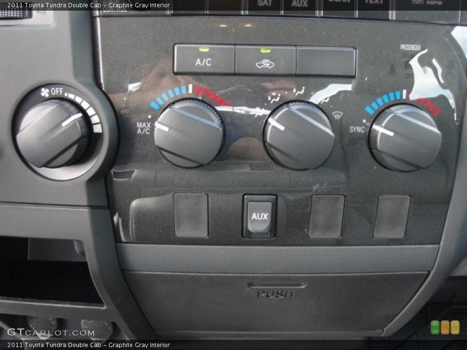Graphite Gray Interior Controls for the 2011 Toyota Tundra Double Cab #46975833