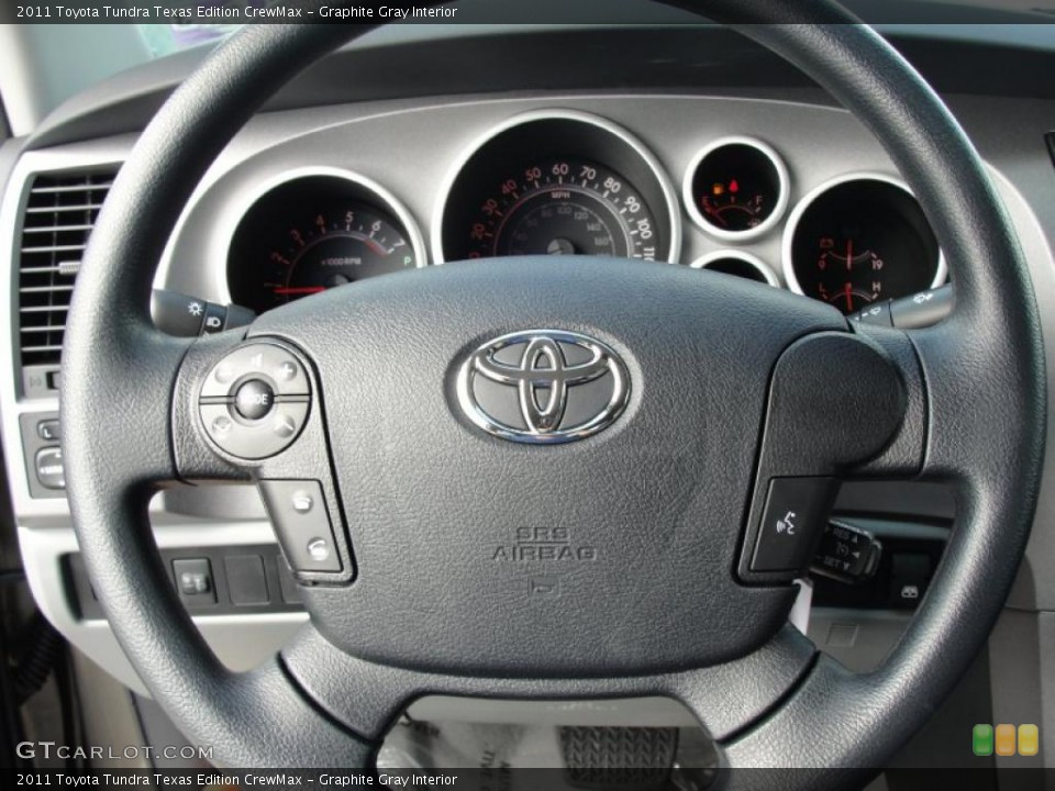 Graphite Gray Interior Steering Wheel for the 2011 Toyota Tundra Texas Edition CrewMax #46977006