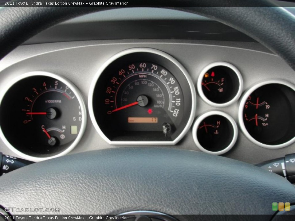 Graphite Gray Interior Gauges for the 2011 Toyota Tundra Texas Edition CrewMax #46977021