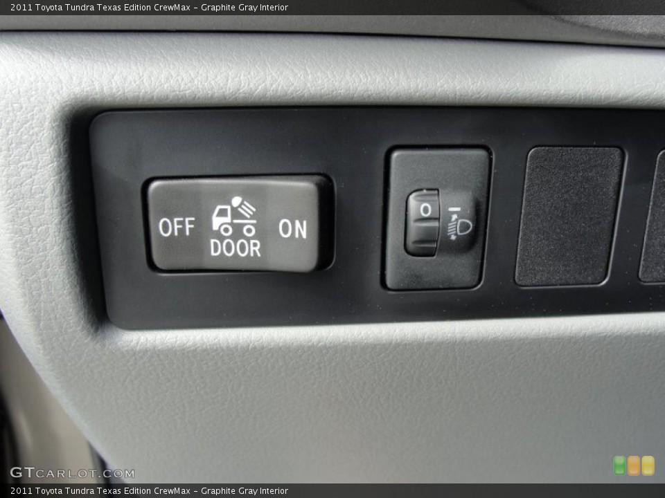 Graphite Gray Interior Controls for the 2011 Toyota Tundra Texas Edition CrewMax #46977054