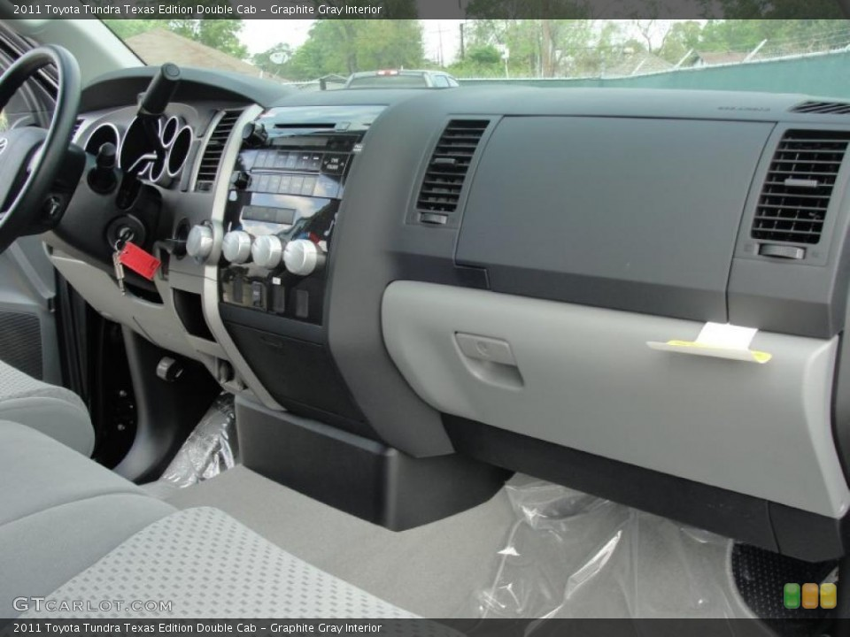 Graphite Gray Interior Dashboard for the 2011 Toyota Tundra Texas Edition Double Cab #47072012