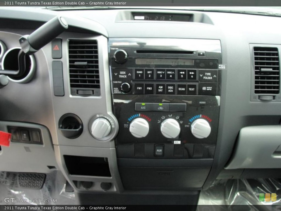 Graphite Gray Interior Controls for the 2011 Toyota Tundra Texas Edition Double Cab #47072114