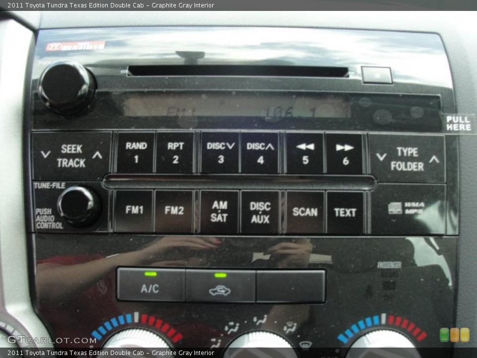 Graphite Gray Interior Controls for the 2011 Toyota Tundra Texas Edition Double Cab #47072144