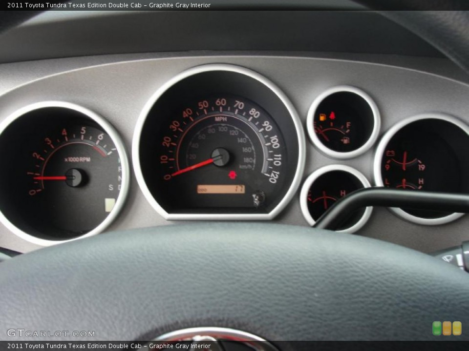 Graphite Gray Interior Gauges for the 2011 Toyota Tundra Texas Edition Double Cab #47072204