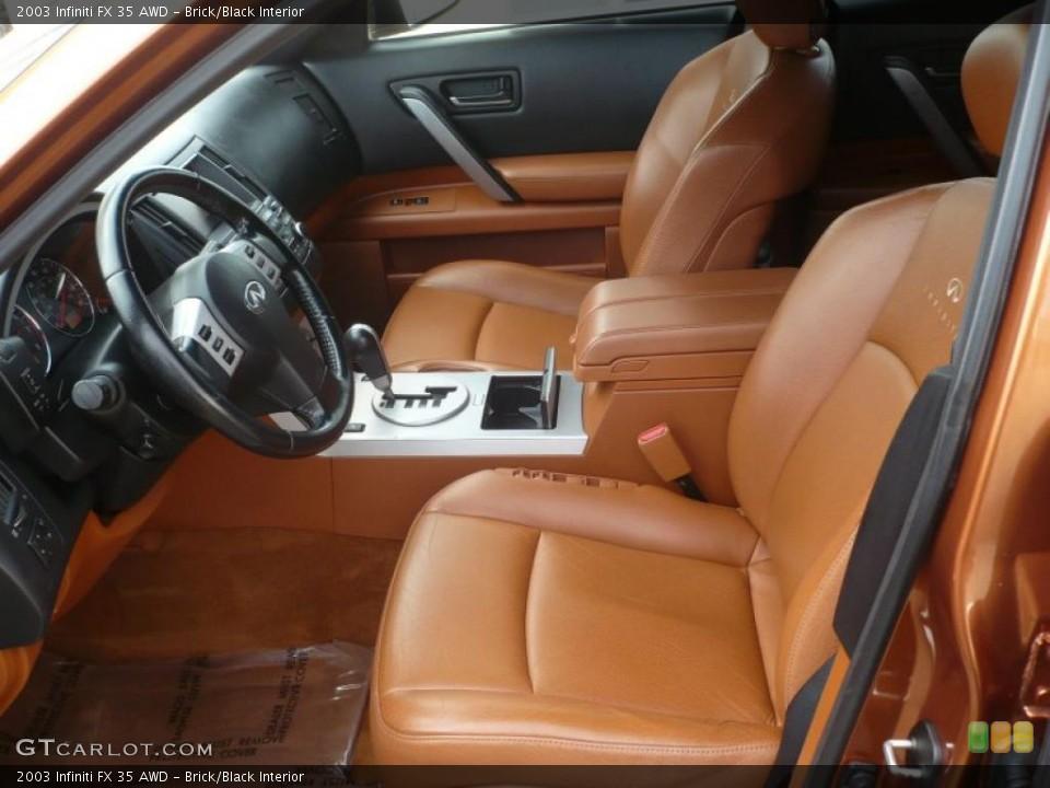 Brick/Black Interior Photo for the 2003 Infiniti FX 35 AWD #47092709