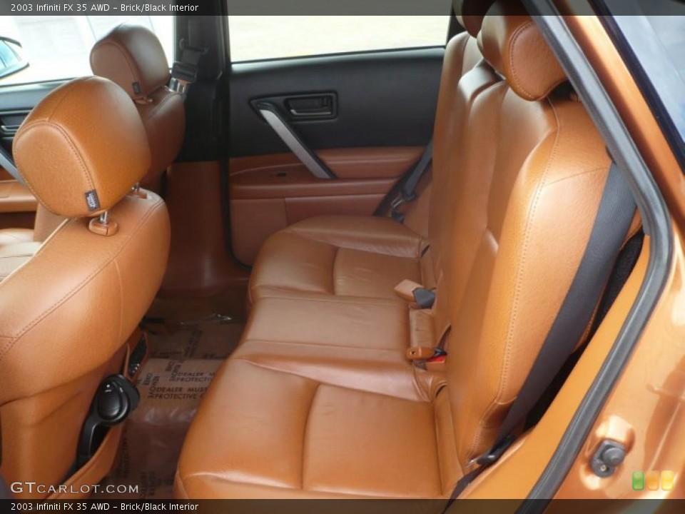 Brick/Black Interior Photo for the 2003 Infiniti FX 35 AWD #47092736