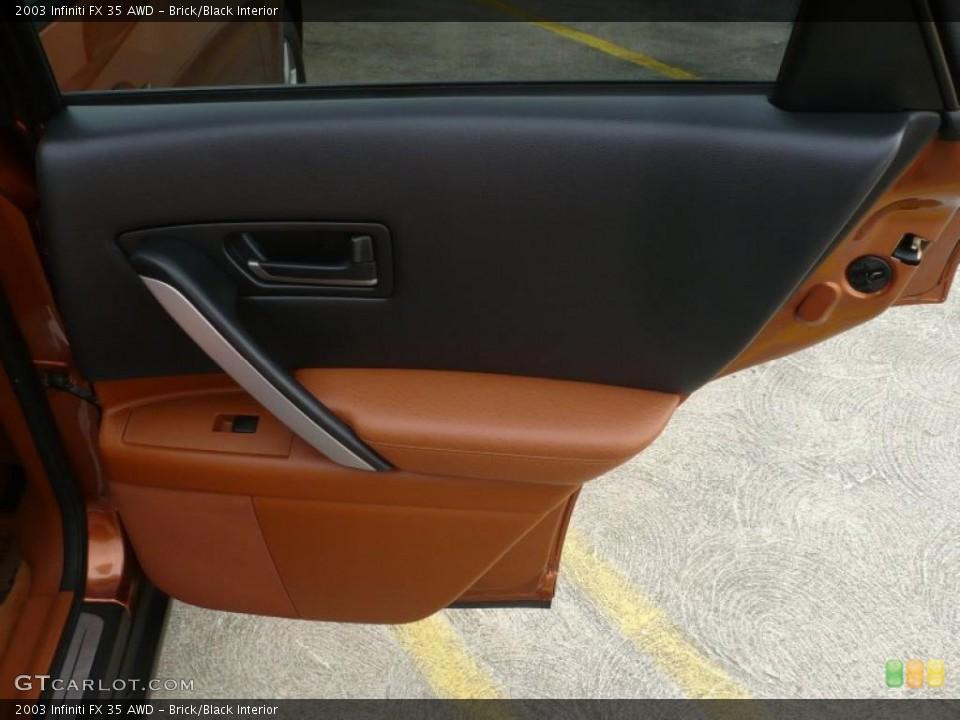 Brick/Black Interior Door Panel for the 2003 Infiniti FX 35 AWD #47092766