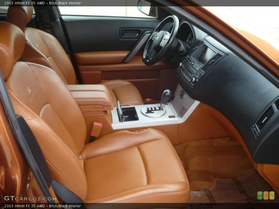 Brick/Black Interior Photo for the 2003 Infiniti FX 35 AWD #47092838