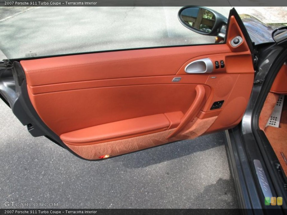 Terracotta Interior Door Panel for the 2007 Porsche 911 Turbo Coupe #47145579