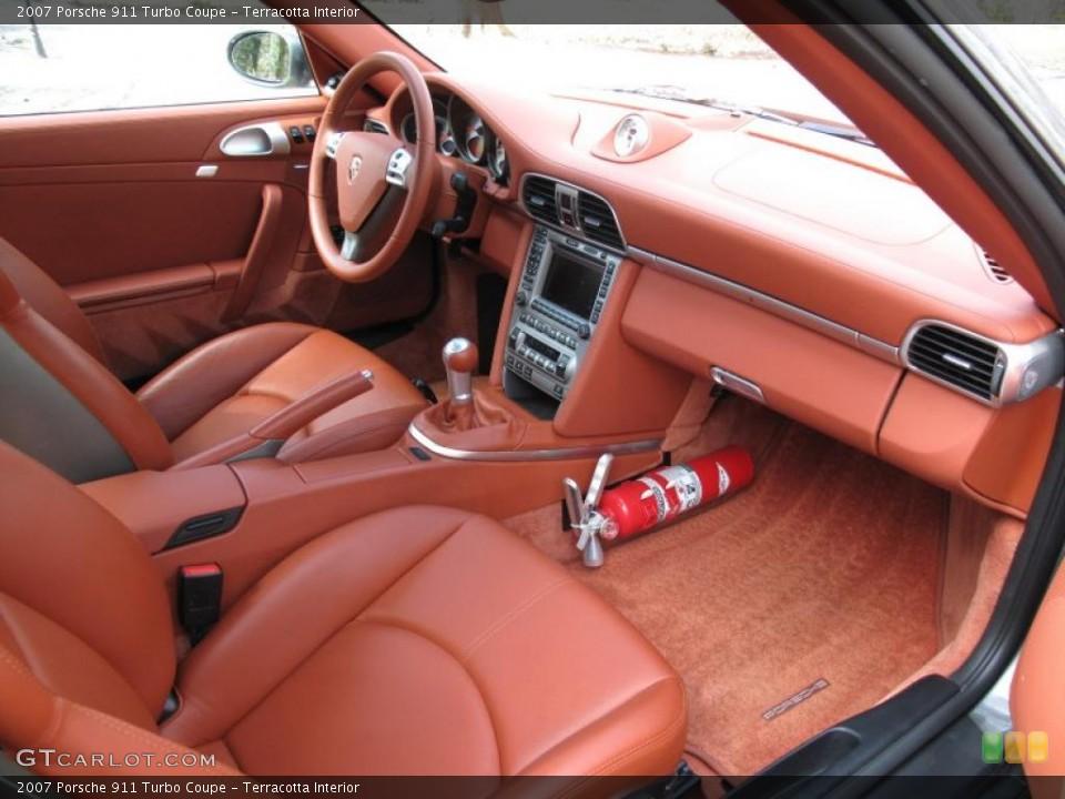Terracotta Interior Dashboard for the 2007 Porsche 911 Turbo Coupe #47145591
