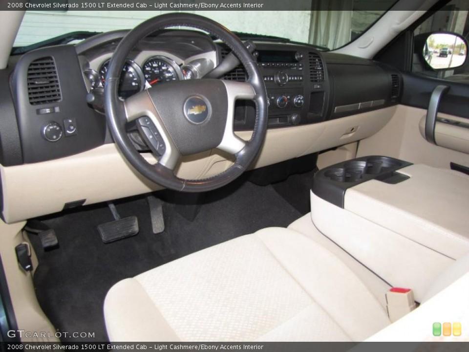 Light Cashmere/Ebony Accents 2008 Chevrolet Silverado 1500 Interiors