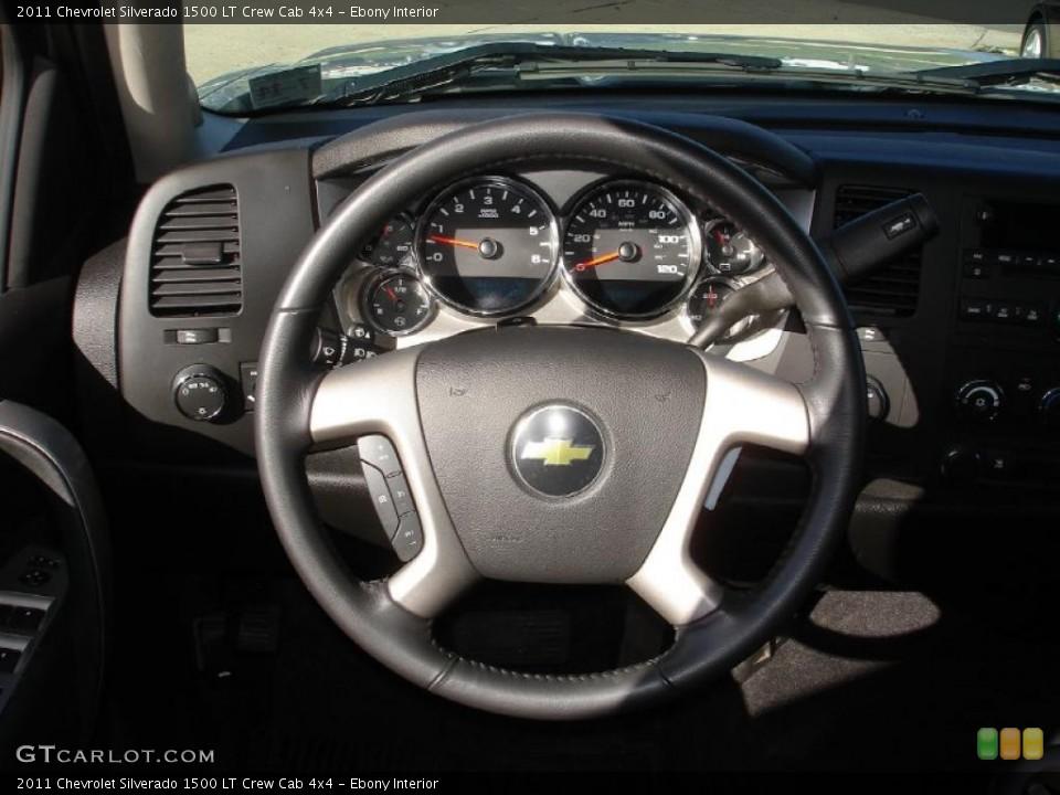 Ebony Interior Steering Wheel for the 2011 Chevrolet Silverado 1500 LT Crew Cab 4x4 #47264168