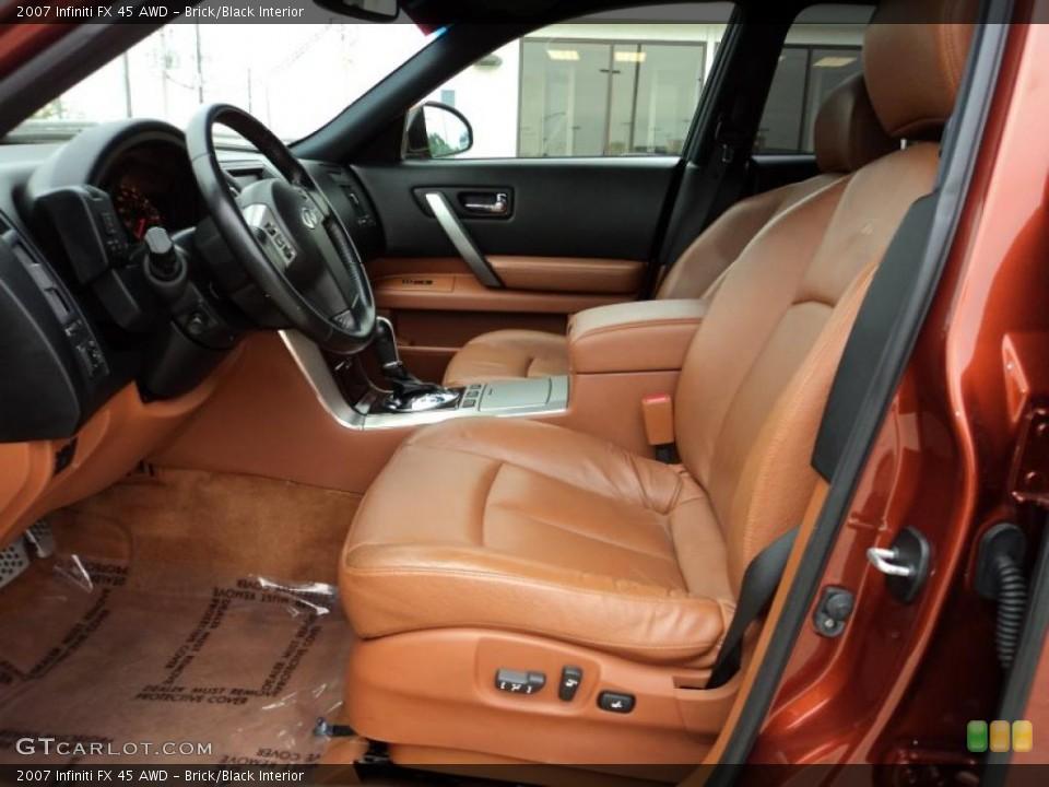 Brick/Black Interior Photo for the 2007 Infiniti FX 45 AWD #47300006