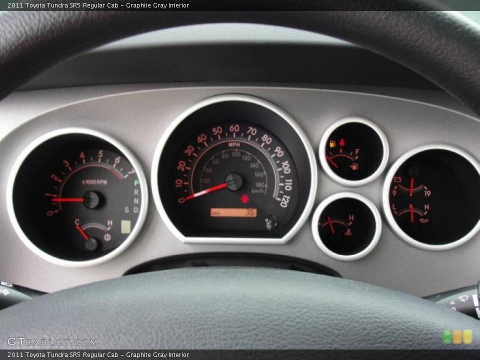 Graphite Gray Interior Gauges for the 2011 Toyota Tundra SR5 Regular Cab #47314916