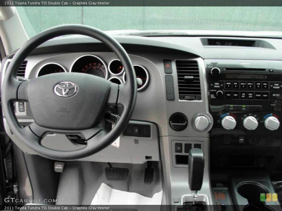 Graphite Gray Interior Steering Wheel for the 2011 Toyota Tundra TSS Double Cab #47316852