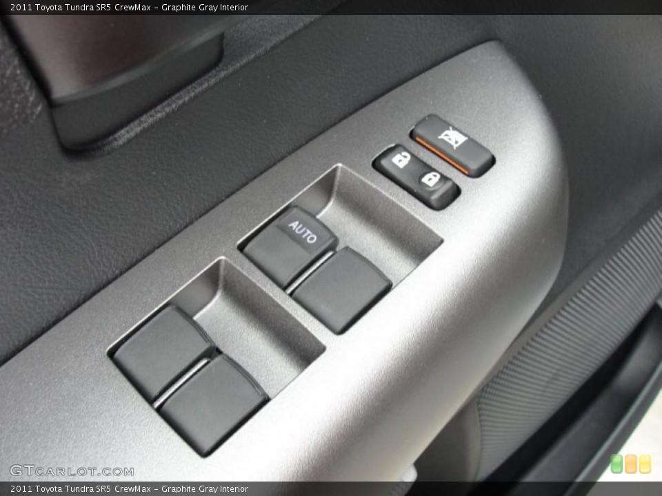 Graphite Gray Interior Controls for the 2011 Toyota Tundra SR5 CrewMax #47317889