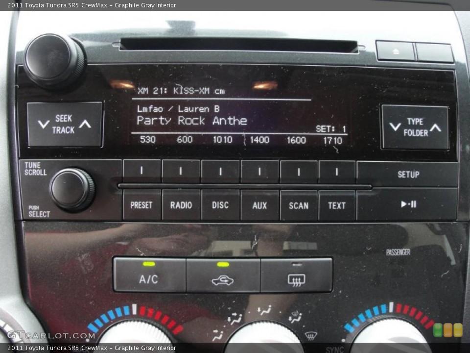 Graphite Gray Interior Controls for the 2011 Toyota Tundra SR5 CrewMax #47317976