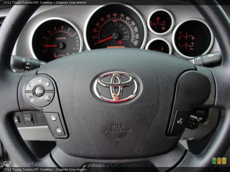 Graphite Gray Interior Steering Wheel for the 2011 Toyota Tundra SR5 CrewMax #47318081