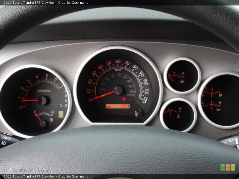 Graphite Gray Interior Gauges for the 2011 Toyota Tundra SR5 CrewMax #47318093