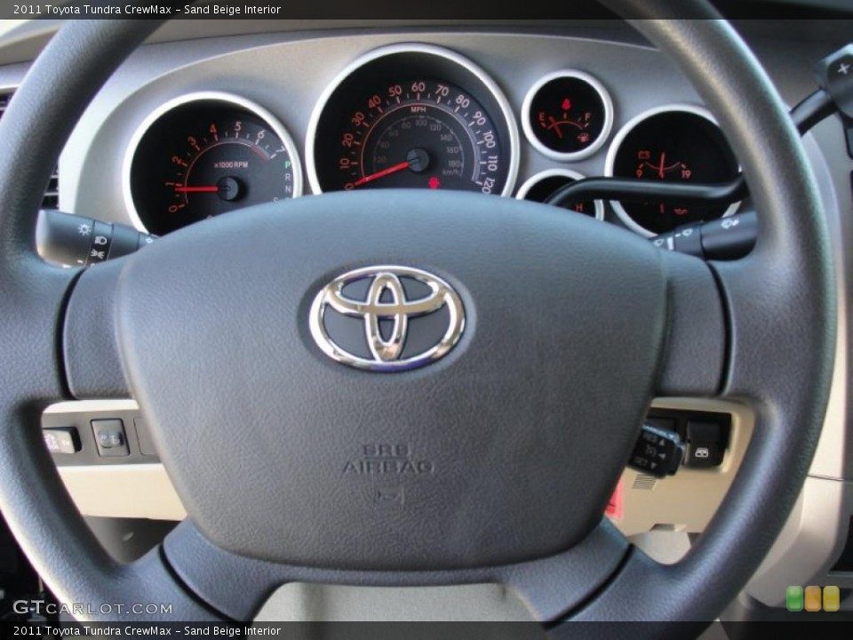 Sand Beige Interior Steering Wheel for the 2011 Toyota Tundra CrewMax #47460865